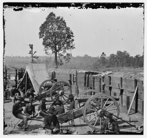 View of Civil War soldiers 1864